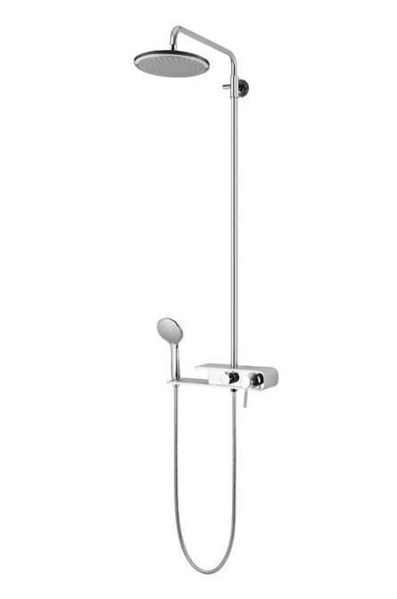 Shower column Corsan Klar Fiber CMN002 chrome / silver